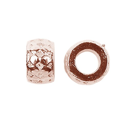 Rose Gold Overlay Large Hole Spacers ()