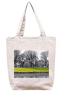 En el lago:)–lona de algodón Tote Bag