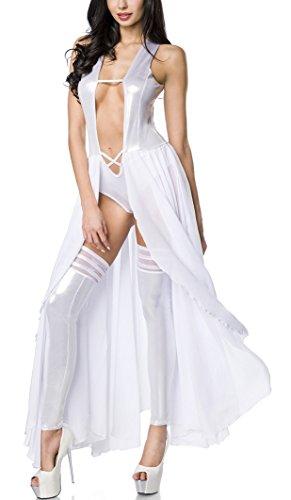 Damen Set GoGo weiß Metallic Bodydress G18199 Look HaHwqrZ6