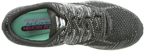 Skechers Air Infinity Stand Out, Fitness femme Noir (Noir/Argent)