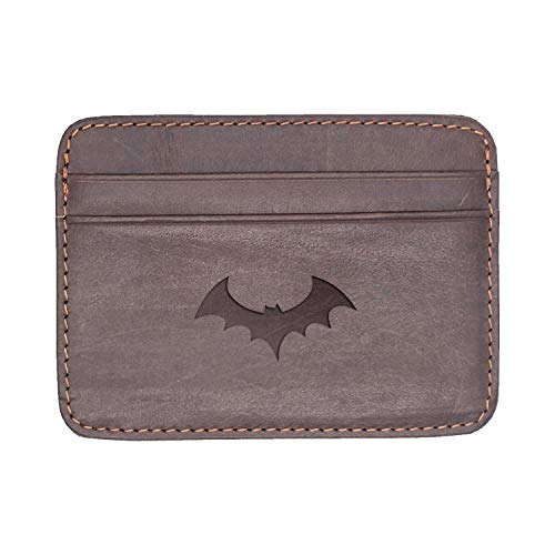 Halloween Dinosaur (Milk Chocolate) Engraved Synthetic Slim Wallet/Card Holder - Handcrafted By Mastercraftsmen - A Perfect Fit For The Minimalist Lifestyle - Sleek, Efficient ()