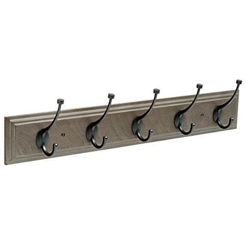 Franklin Brass FBPLLT5-513-R Hook Rail in in, Driftwood Gray & Soft Iron ()