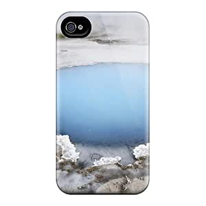 High Quality Blue Geyser Case For Iphone 4/4s / Perfect Case