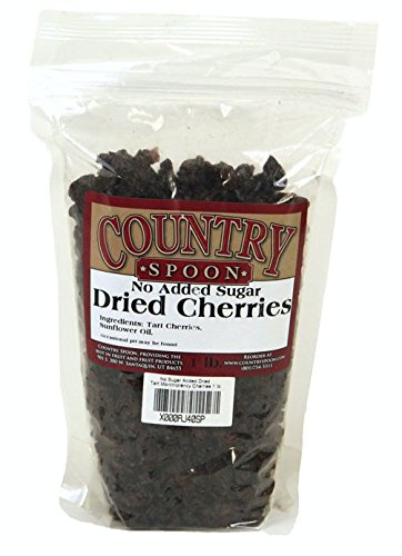 No Sugar Added Dried Tart Montmorency Cherries by Country Spoon - 1 lb. Bag (Cherries Red Tart)