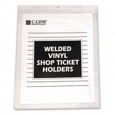 C-Line Vinyl Shop Ticket Holders, Both Sides Clear, 9 x 12 Inches, 50 per Box (80912) ()