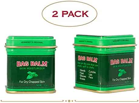 Vermont's Original Bag Balm Skin Moisturizing Ointment for Dry, Cracked Skin - 1oz Tin - 2 Pack