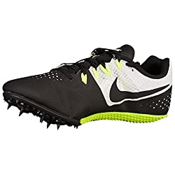 Nike Men's Zoom Rival S 8 Track & Field Spikes, Blkwhtvolt