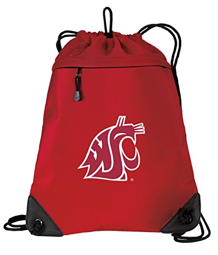 Broad Bay Washington State University Drawstring Backpack Bag Washington State Cinch Pack - Unique MESH & Microfiber