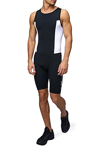 Mens Premium Padded Triathlon Tri Suit Compression Duathlon Running Swimming Cycling skin suit by Sundried - Sale Suit Tri Womens