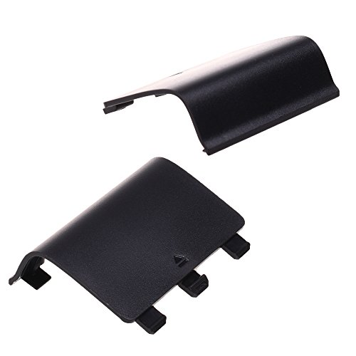 COSMOS 2 PCS Black Replacement Battery Shell for Xbox One Controller (Controller Battery Shell)