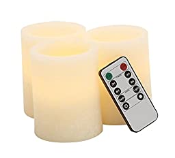 Deco 79 Led Films Candle Remote, 3 by 4-Inch, Set of 3