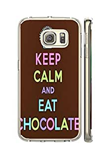 "Mldierom ""Fashion?Case"" Lace Pattern Hard Shell Case for Galaxy S6 Edge Keep calm AND Hakuna Matata quote"