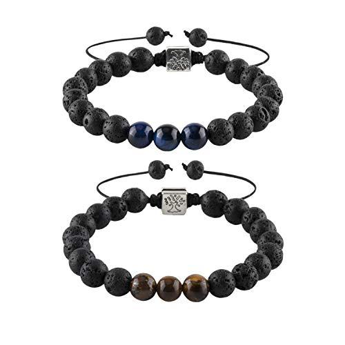 RIVERTREE Set of 2 Lave Diffuser Bracelet Real