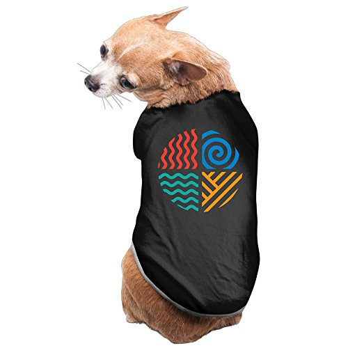 Element Earth Costume (Four Elements Earth Air Water Fire Dog Costumes Pet T Shirts Sleeveless Puppy Clothes)