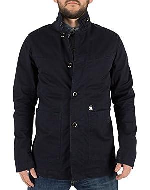 G-Star Men's Bronson Blazer Logo Button Jacket, Blue