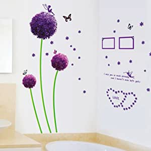 YESURPRISE Vinilo Decorativo Vinilos Salón y Dormitorio Pegatina Pared Vinilo Adhesivo Flor 45*60cm