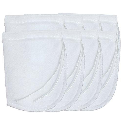 - Aquatic Experts Drawstring Aquarium Filter Socks 200 Micron - 4 Inch Opening by 8 Inch Long - 8 Pack Short Premium Felt Filter Bags - Custom Made in The USA