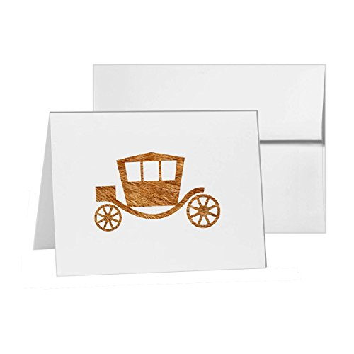 - Coach Carriage Ride Golden Gouden, Blank Card Invitation Pack, 15 cards at 4x6, Blank with White Envelopes Style 8595
