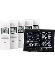 DNT RoomLogg PRO, DNT00004, draadloos binnenklimaatstation, 868 MHz, incl. 5 thermo-/hygrosensoren, pc-evaluatiesoftware