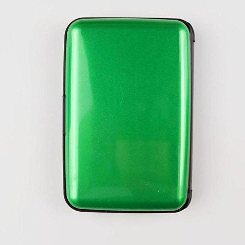 Wasserdicht Kreditkartenhüllen SOMESUN Herren Kartenhüllen Business ID Kreditkarte Brieftasche Kunststoff Tasche (schwarz) Grün BsZRl9