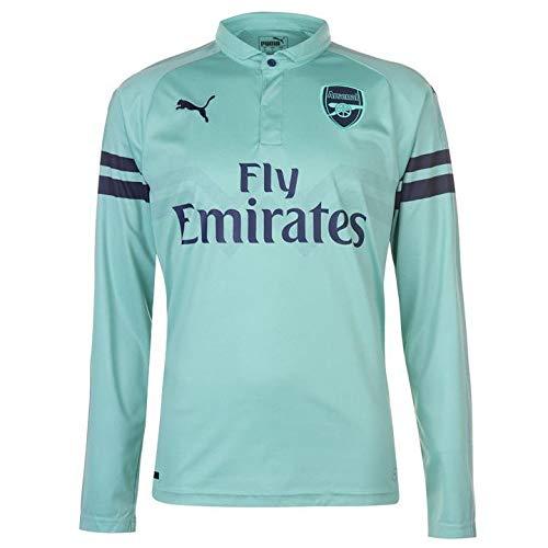 - PUMA 2018-2019 Arsenal Third Long Sleeve Football Soccer T-Shirt Jersey