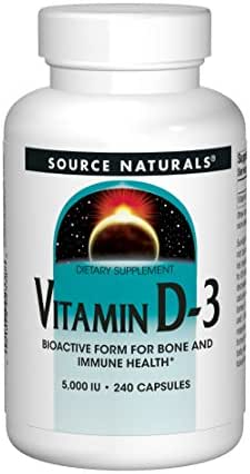 Source Naturals Vitamin D-3 5000 iu Supports Bone & Immune Health - 240 Capsules