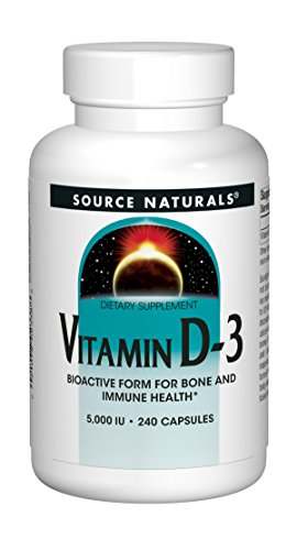 Source Naturals Vitamin D-3 5000IU - 240 Capsules (Best Source Of Vitamin D3)