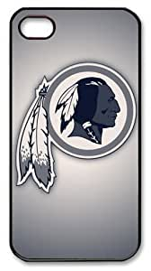 LZHCASE Personalized Protective Case for iPhone 4/4S - NFL Washington Redskins, American Football