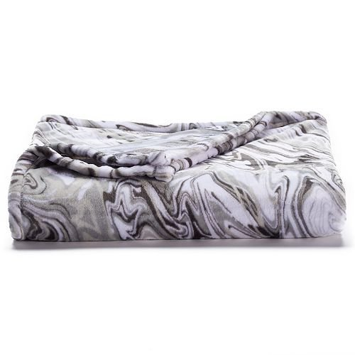 The Big One Super Soft Plush Throw, Grey Marble, 60'' x 72'' by The Big One
