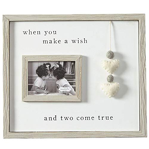 Mud Pie Keepsake Baby Frames (Pom Heart Twin Frame)