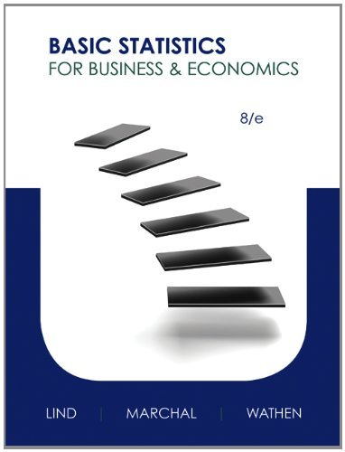 By Douglas Lind Basic Statistics for Business and Economics with Connect Plus (8th Edition) (Basic Statistics For Business And Economics 8th Edition)
