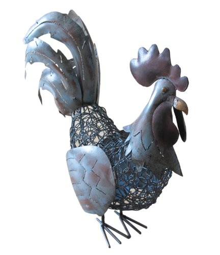 Art And Lutherie D-ART COLLECTION Iron Antique Rooster Ca...