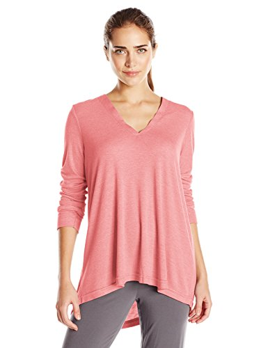 Speckled Coral (N Natori Women's Speckled Interlock Top, Coral Peach, S)