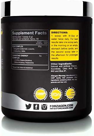 Forzagen Cla + L Carnitine + Bcaa Powder - Bcaas Amino Acids with Cla Powder Increase Energy Free Caffeine Pre Workout   60 Servings   Keto Burn   Premium Cla Supplements (Cherry Cola) 2