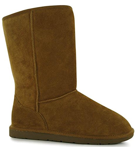 Ladies Stylish Warm Soft Faux Fur Lined Tahoe Snug Boot Shoes Chestnut1 mdgJgqDK