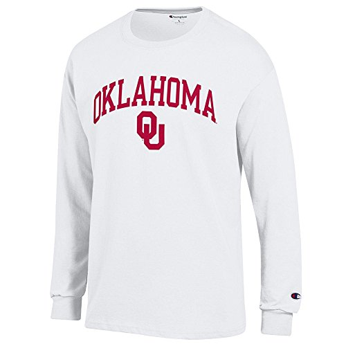Elite Fan Oklahoma Sooners Men's Long Sleeve Arch Tee, White, XX Large