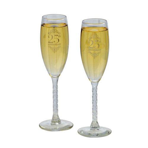 Jamie Lynn Wedding 25th Anniversary Collection, Toasting Glasses, Set of (25th Anniversary Toasting Glasses)
