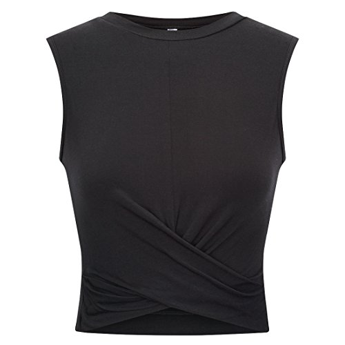 Women's Sleeveless Crop Tops Slim Fit Summer Midriff Baring Vest Tops -