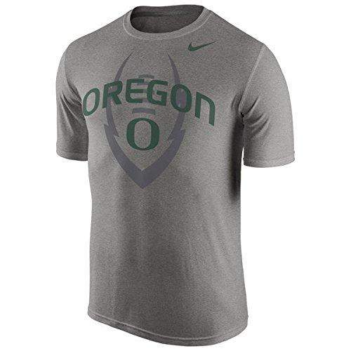 Nike University Oregon (Oregon Ducks Football Legend Logo Nike Dri Fit Grey Shirt Large)