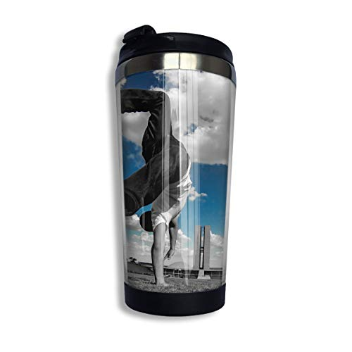 Changan Stainless Steel Thermal Insulation Water Bottles Parkour Motion Print Travel Mug Non-Leaking Sports Kettle for Outdoor Running Camping Gym