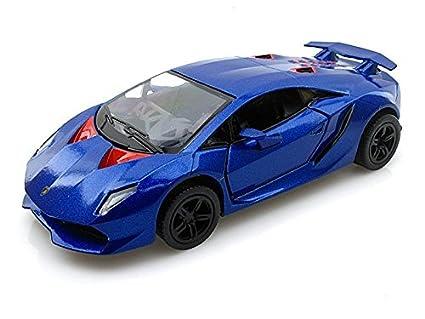Amazon Com Lamborghini Sesto Elemento 1 38 Blue Toys Games
