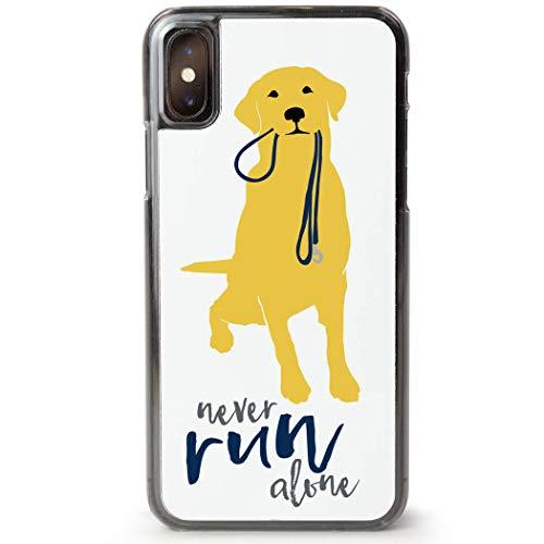 Running iPhone X Case | Never Run Alone | Yellow