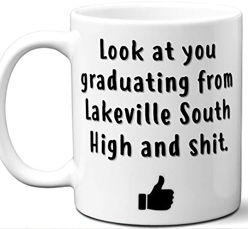 Lakeville South High Graduation Gift. Cocoa, Coffee Mug Cup. Student High School Grad Idea Teen Graduates Boys Girls Him Her Class. Funny Congratulations. 11 - Girl Lakeville