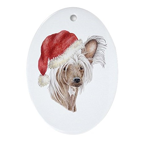 CafePress Christmas Chinese Crested Ornament