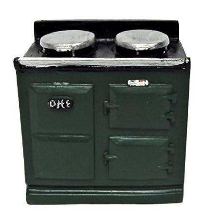Amazon.com: Melody Jane casa de muñecas 2 horno verde AGA ...