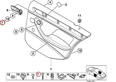 e46 door panel screws - 6