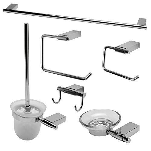 ALFI brand AB9515-PC Matching Bathroom Accessory Set (6 Piece), Polished Chrome