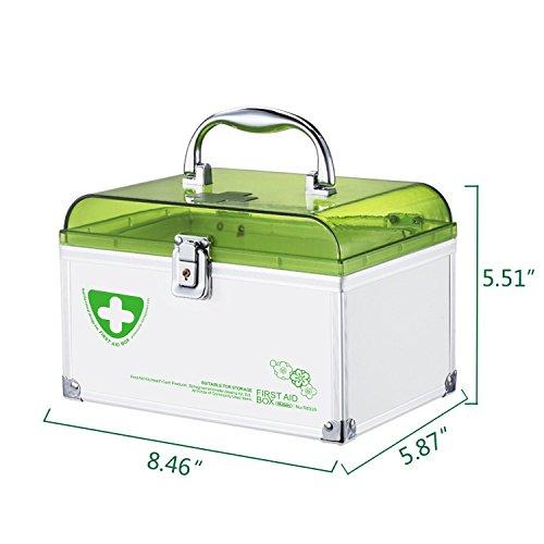 Glosen First Aid Box Lockable Medicine Storage Box with Child Safe Lock  8 46