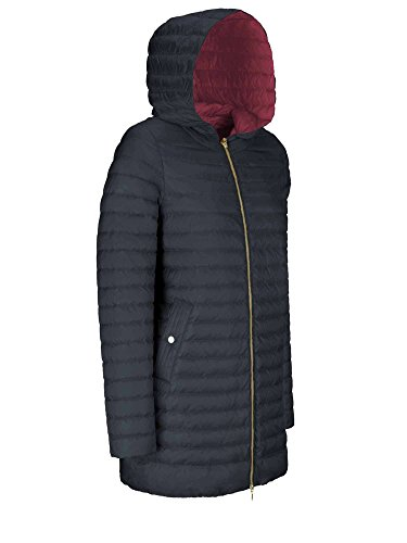 Nights Geox W8225c Jacket red crim Down Blue 44 F4390 Woman T2412 7BC7S