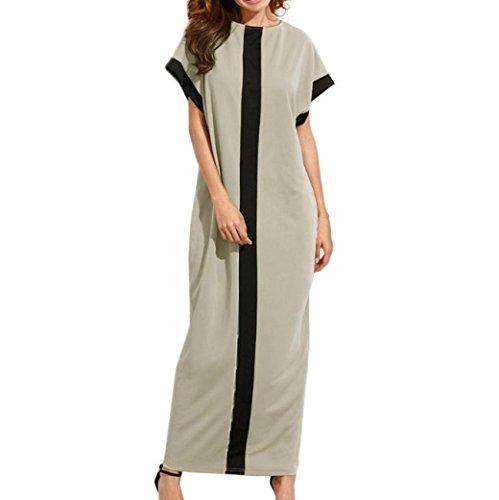 Summer Sleeve Khaki Casual Women Long Dress BSGSH T Solid Loose Shirt Short TgH75w6q